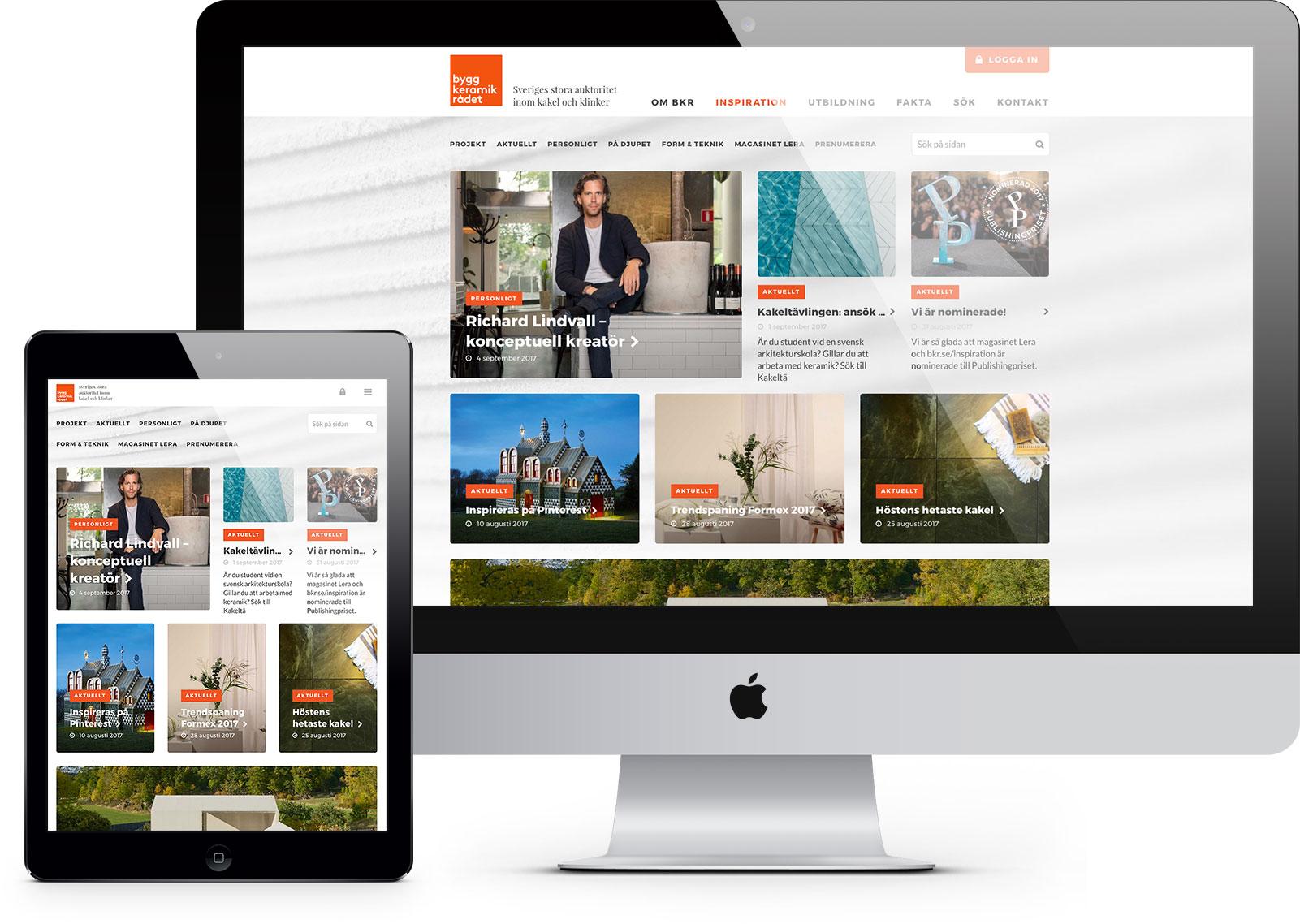 BKR Inspiration webbplats