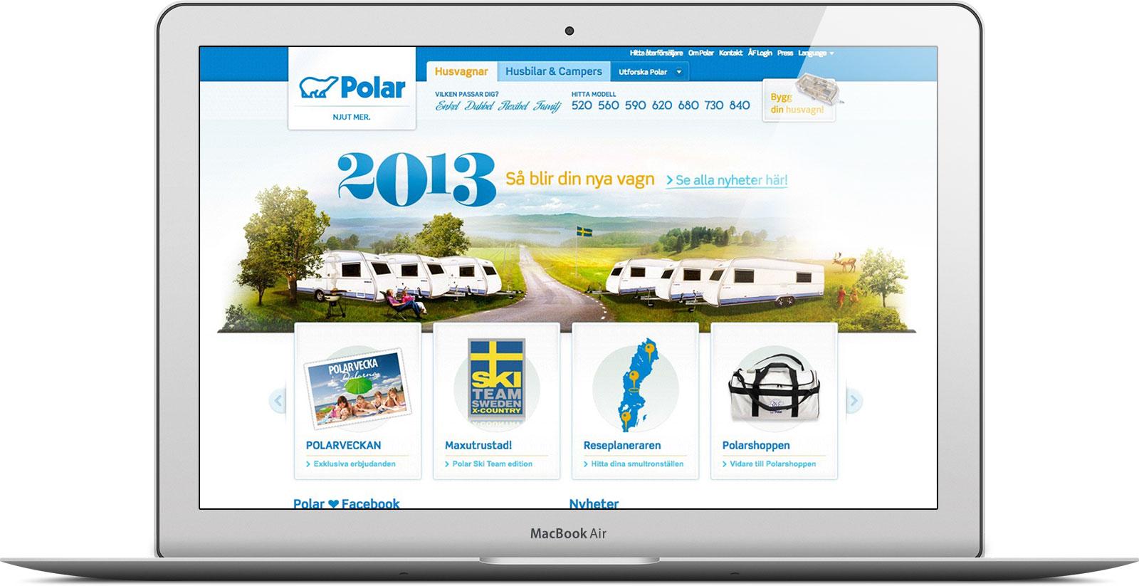 Polarvagnen är ett bra exempel på endesigntrend innan mobilens genomslag.