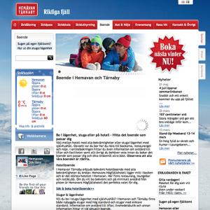 Så här såg Hemavans gamla webbplats ut.
