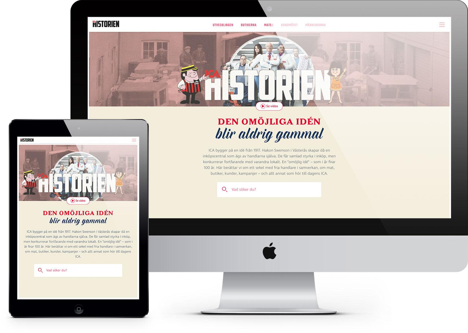 Webbplats för ICAs historia